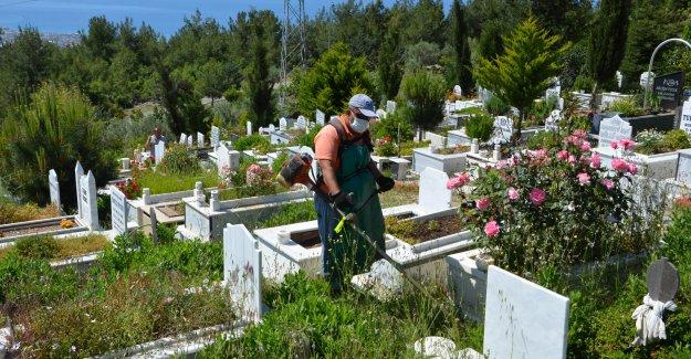 Mezarlıklar bakıma alındı