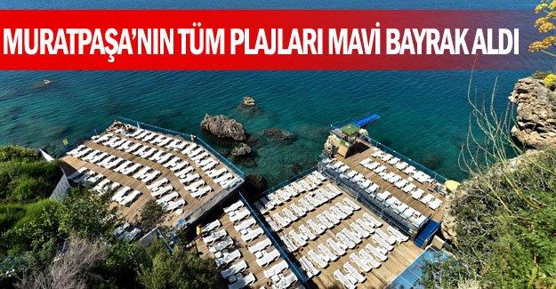 Muratpaşa'nın tüm plajları Mavi Bayrak aldı
