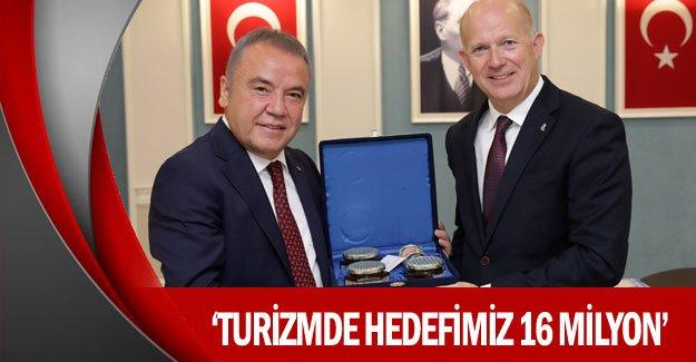 """""""Turizmde hedefimiz 16 milyon"""""""