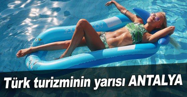 Türk turizminin yarısı ANTALYA