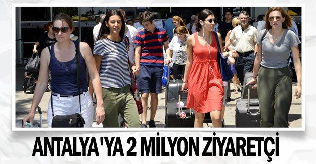 Antalya'ya 2 milyon ziyaretçi