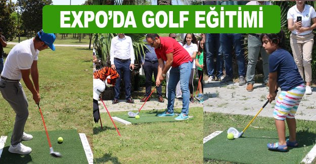 EXPO'DA GOLF EĞİTİMİ