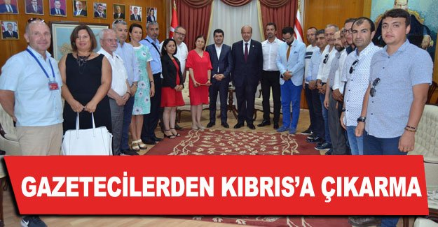 Gazetecilerden Kıbrıs'a çıkarma