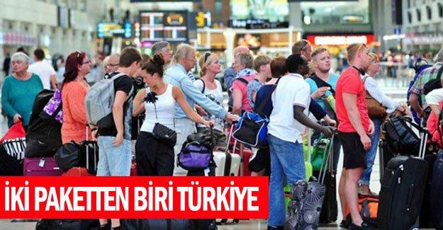 İki paketten biri Türkiye