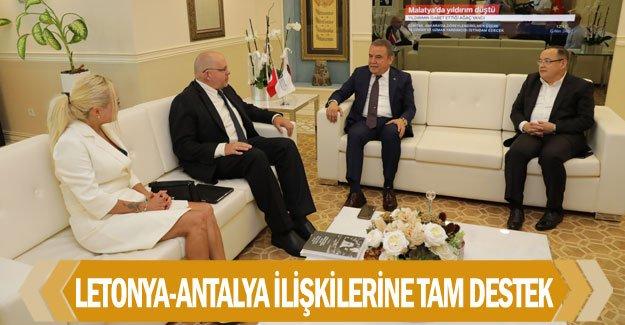 Letonya-Antalya ilişkilerine tam destek