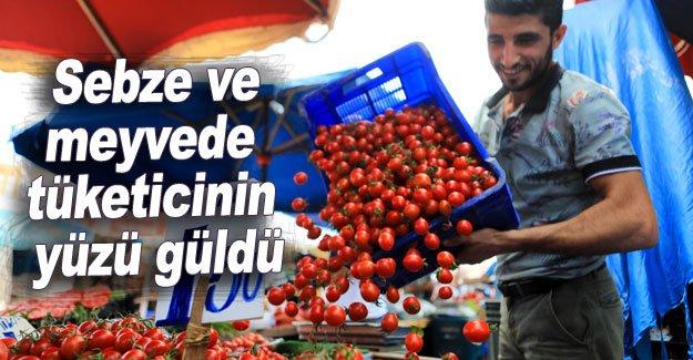 Sebze ve meyvede tüketicinin yüzü güldü