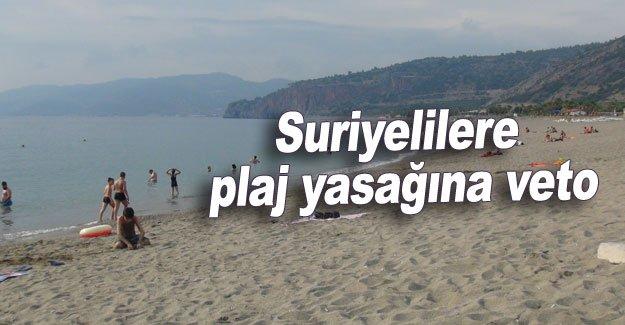 Suriyelilere plaj yasağına veto
