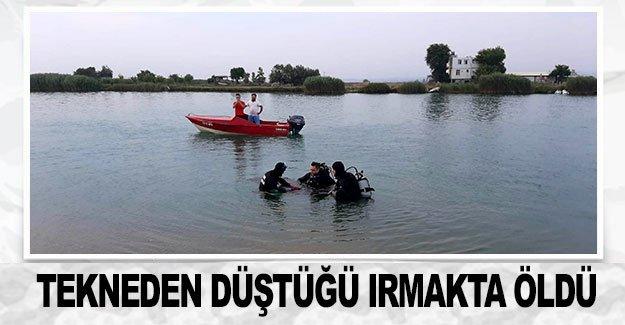 Tekneden düştüğü ırmakta öldü