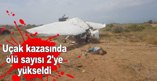 Uçak kazasında ölü sayısı 2'ye yükseldi