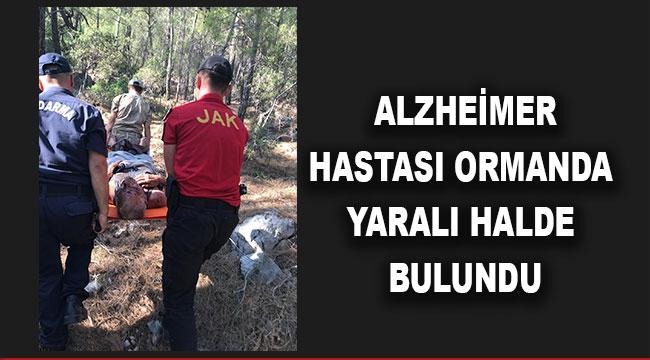 Alzheimer hastası ormanda yaralı halde bulundu