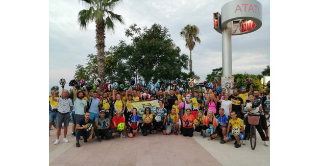 Bisikletlilerden destek