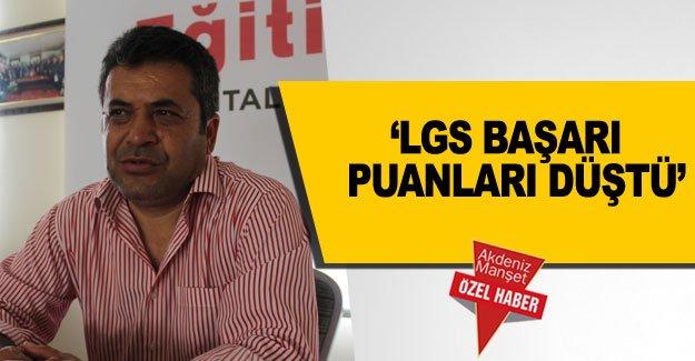'LGS başarı  puanları düştü'