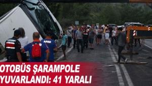 Otobüs şarampole yuvarlandı: 41 yaralı