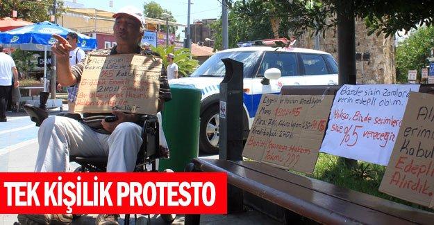 Tek kişilik protesto