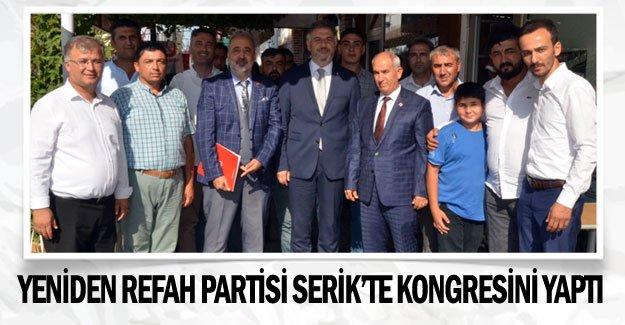 Yeniden Refah Partisi Serik'te kongresini yaptı