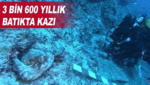 3 bin 600 yıllık batıkta kazı