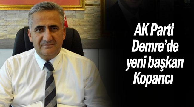 AK Parti Demre'de yeni başkan Koparıcı
