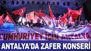 Antalya'da zafer konseri