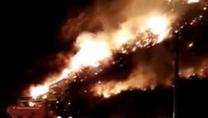 Antik kent yakınında yangın