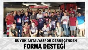 Büyük Antalyaspor Derneği'nden forma desteği