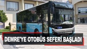 Demre'ye otobüs seferi başladı