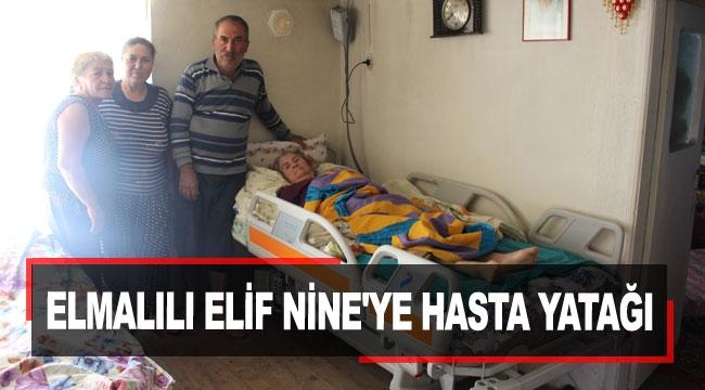 Elmalılı Elif Nine'ye hasta yatağı