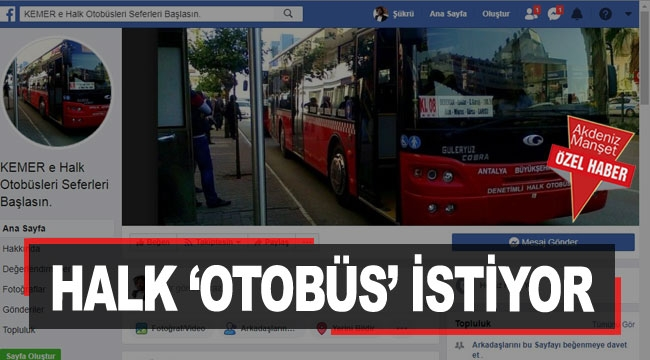 Halk 'otobüs' istiyor