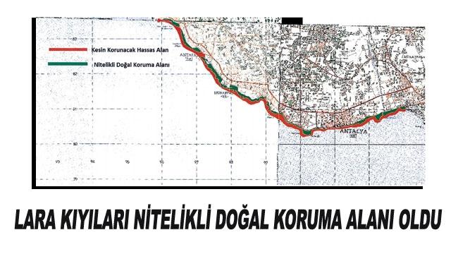 Lara kıyıları nitelikli doğal koruma alanı oldu