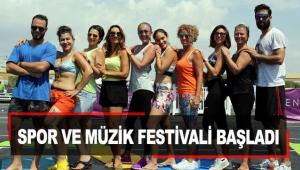 Spor ve müzik festivali başladı