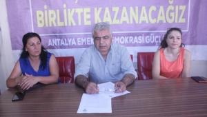 HDP Antalya, kayyum atamalarını değerlendirdi