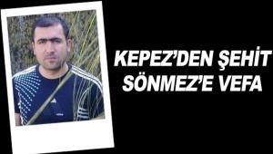 Kepez'den Şehit Sönmez'e vefa