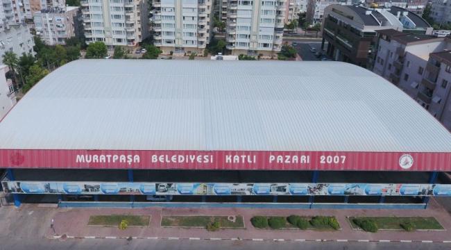 Muratpaşa pazarın çatısında elektrik üretecek