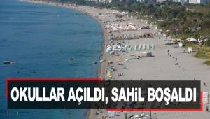Okullar açıldı, sahil boşaldı