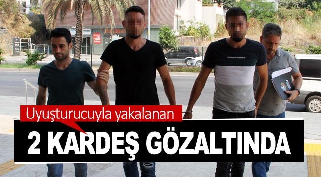 Uyuşturucuyla yakalanan 2 kardeş gözaltında