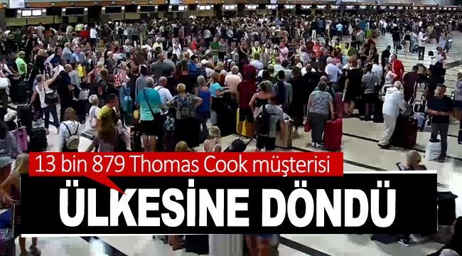 13 bin 879 Thomas Cook müşterisi ülkesine döndü