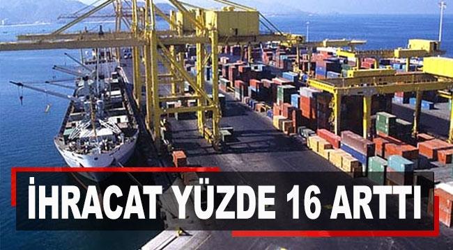 Antalya'da ihracat yüzde 16 arttı