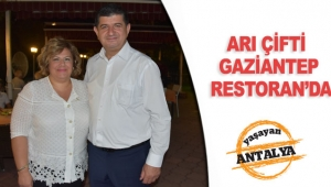 Arı çifti Gaziantep Restoran'da