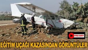 Eğitim uçağı kazasından görüntüler