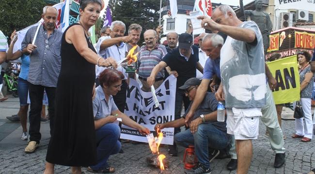 Elektrik zammına protesto