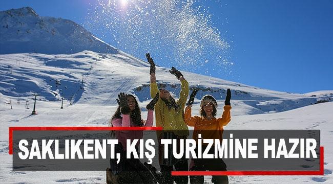 Saklıkent, kış turizmine hazır