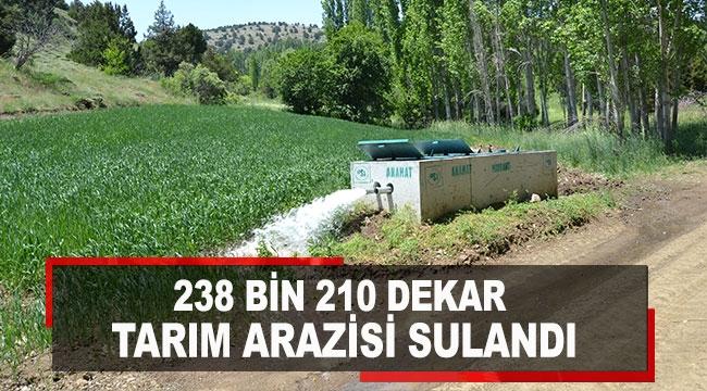238 bin 210 dekar tarım arazisi sulandı