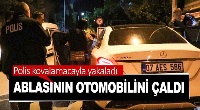 Ablasının otomobilini çaldı, polis kovalamacayla yakaladı