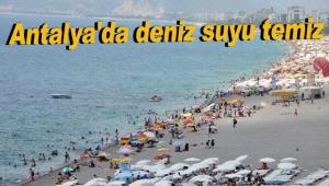Antalya'da deniz suyu temiz