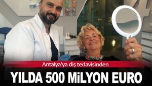 Antalya'ya diş tedavisinden yılda 500 milyon Euro
