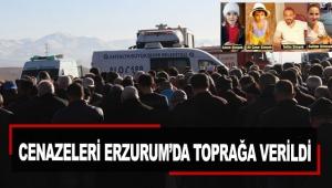 Cenazeleri Erzurum'da toprağa verildi
