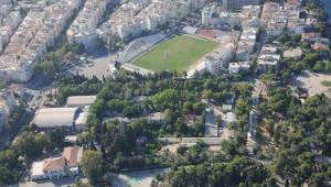 Eski stadyum alanı park olarak hizmette