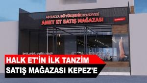 Halk Et'in ilk tanzim satış mağazası Kepez'e