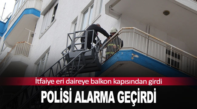 Polisi alarma geçirdi