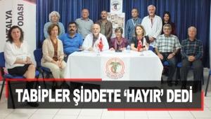 Tabipler şiddete 'HAYIR' dedi