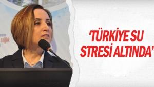 'Türkiye su stresi altında'